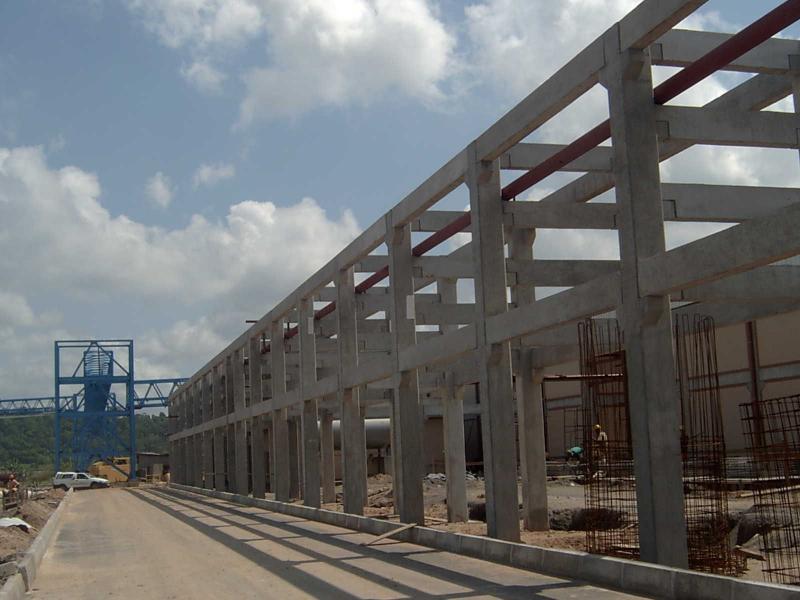 Estrutura pré moldada de concreto