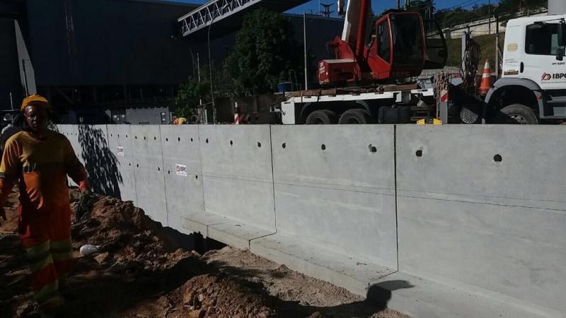 Muro de contenção pré moldado