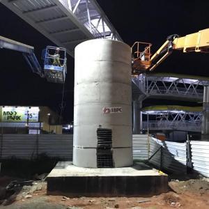 Reservatório de concreto pré moldado